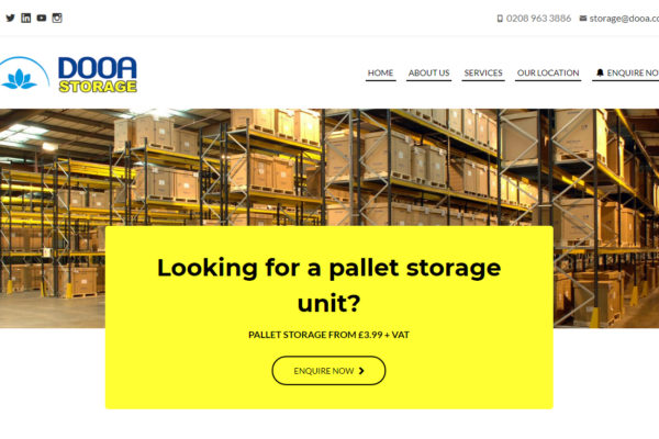 CMS website for Dooa Storage