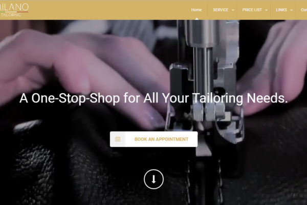 CMS Website for Milano Tailoring
