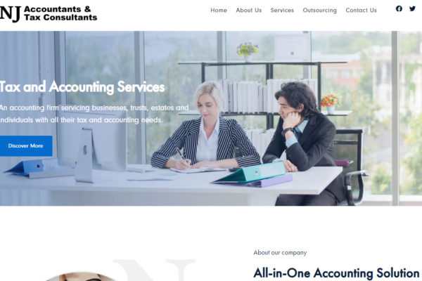 CMS website for Nalin jayasuriya Accountants