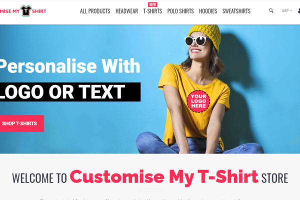 eCommerce website for Customise My T-Shirt