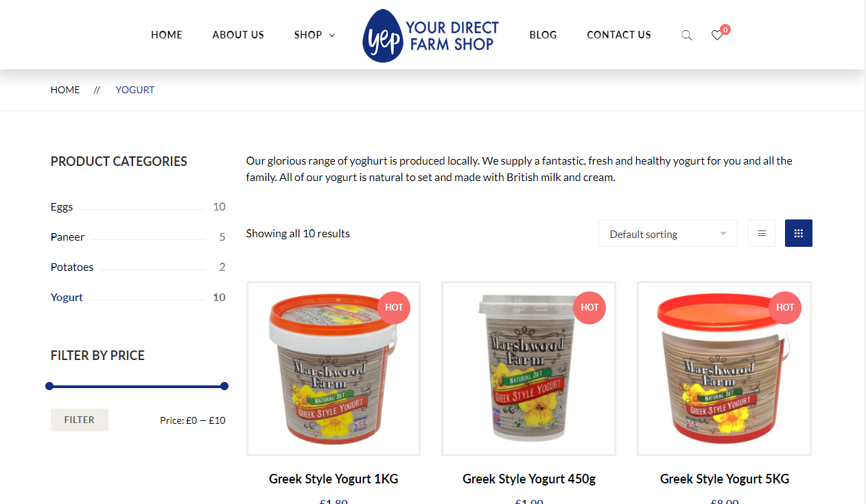eCommerce website for Yep Direct