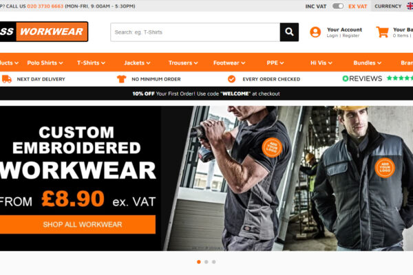 eCommerce website for Class Workwear